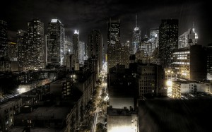 New York At Night by by Trodel via flickr