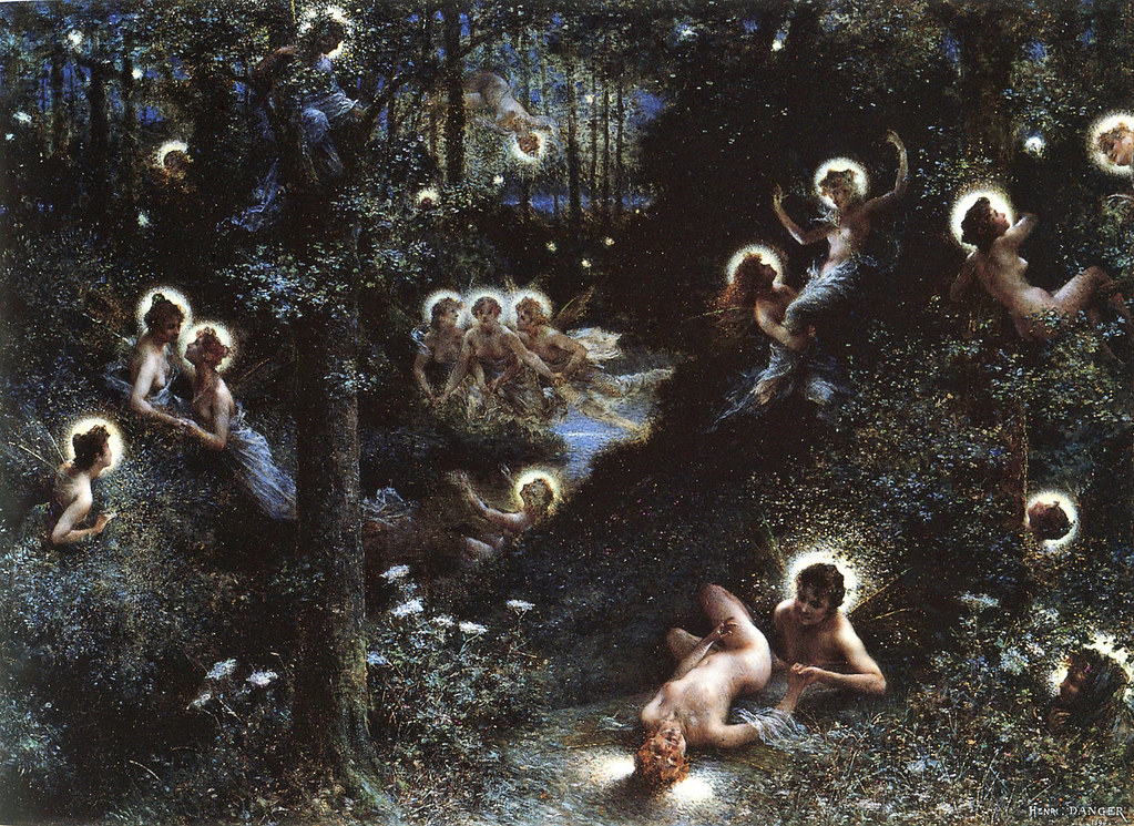Les Lucioles, The Fireflies, by Henri-Camille Danger, France, 1896